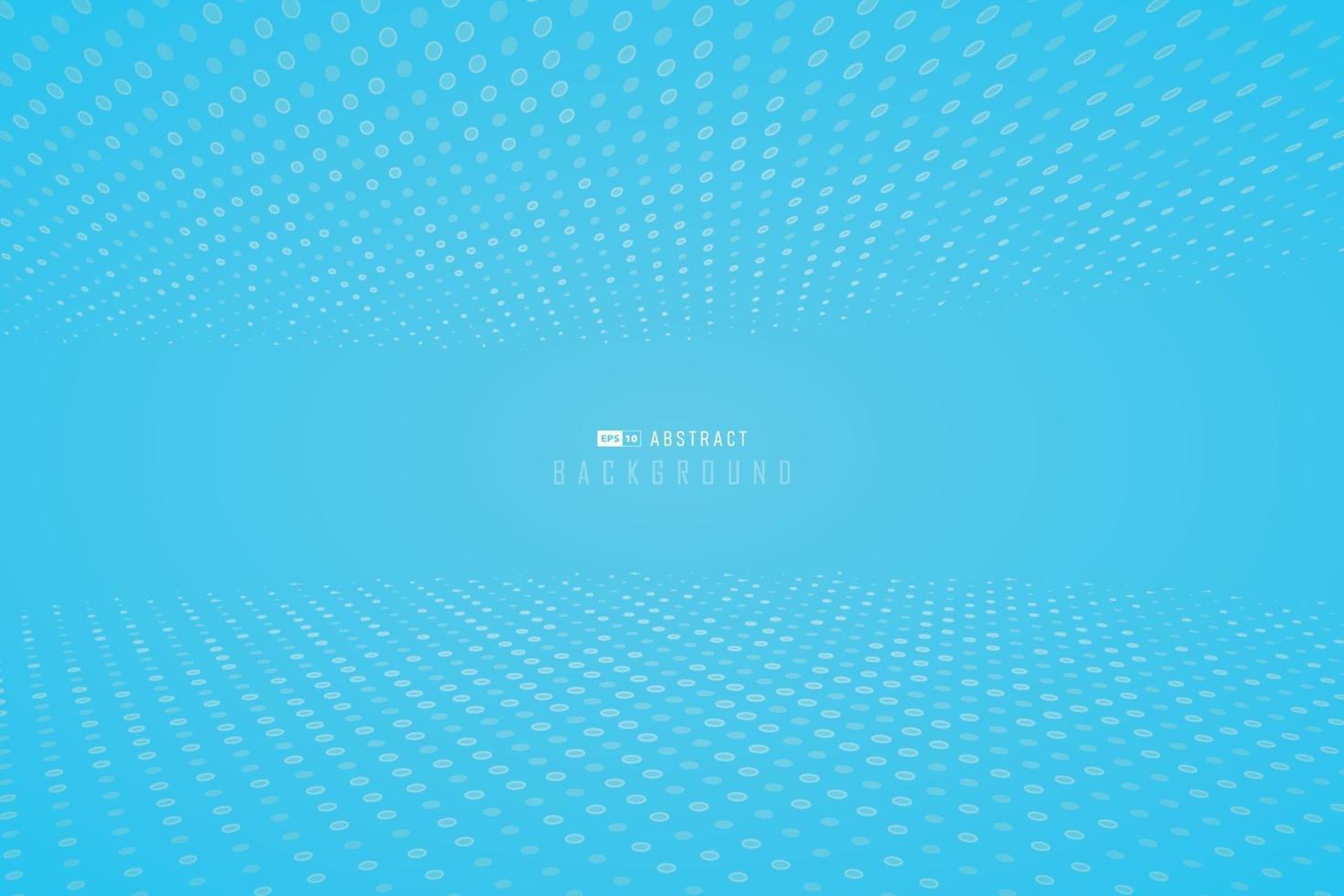 papel tapiz azul degradado brillante abstracto con fondo de diseño minimalista punteado de semitono. vector de ilustración