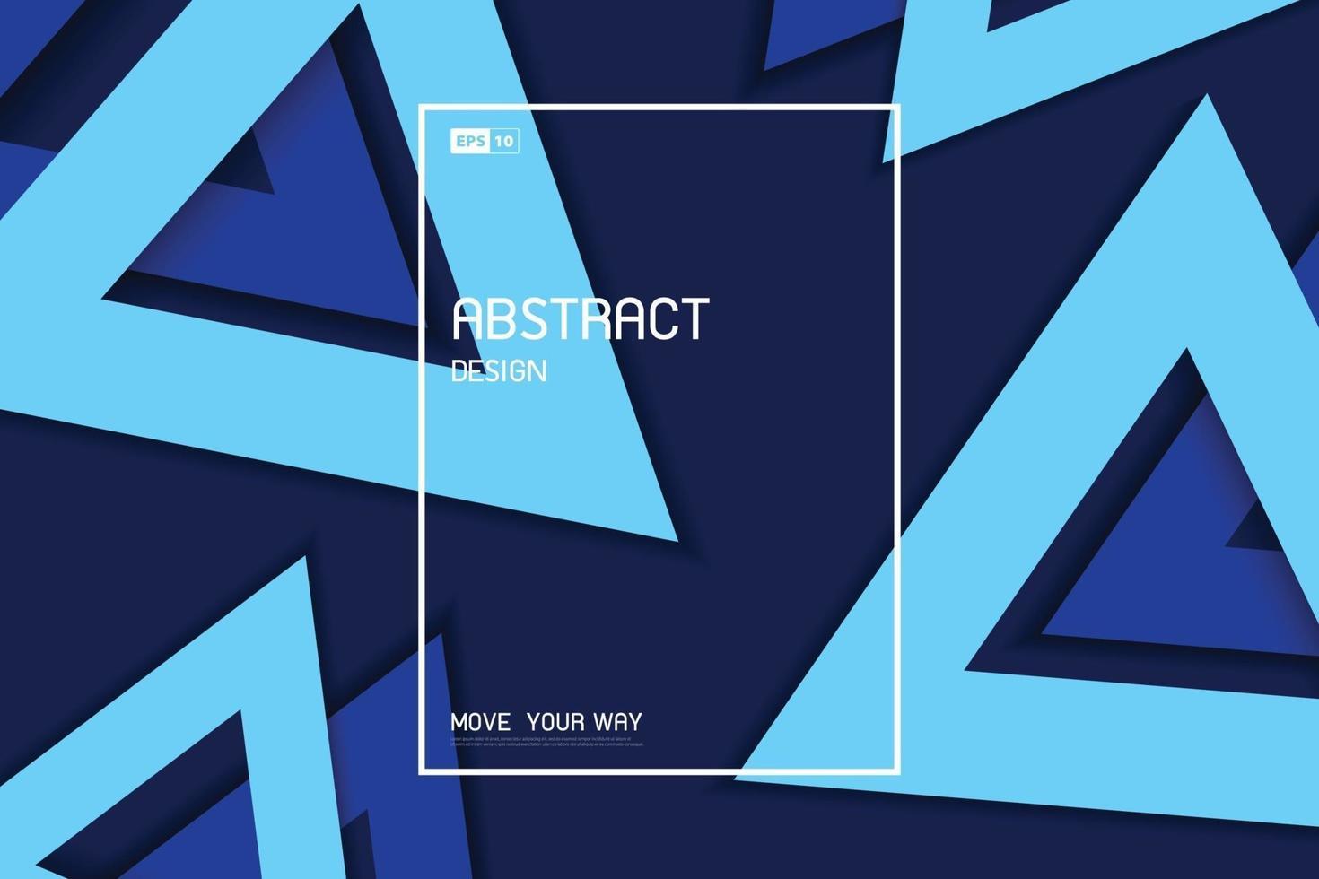 Triángulo azul abstracto geométrico del fondo decorativo del modelo de las ilustraciones del diseño mínimo. vector de ilustración