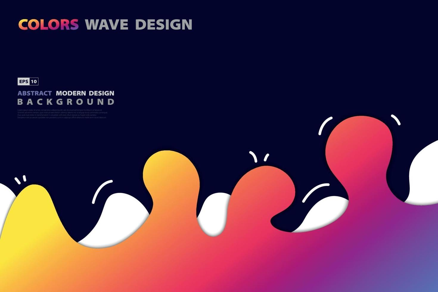 diseño ondulado del arco iris colorido abstracto de fondo decorativo mínimo. vector de ilustración