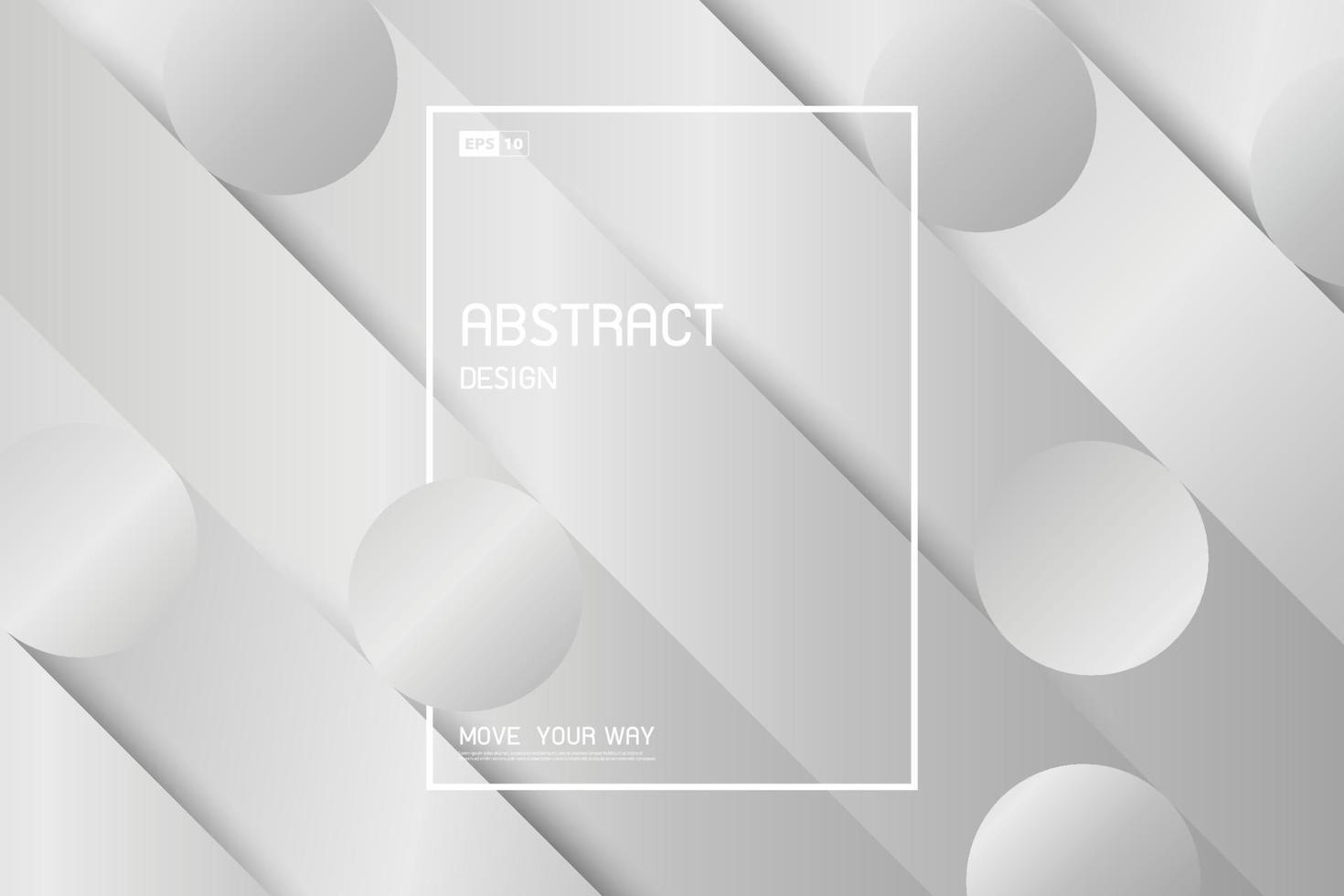 Diseño de plantilla de plata abstracta de fondo de estilo geométrico degradado. vector de ilustración
