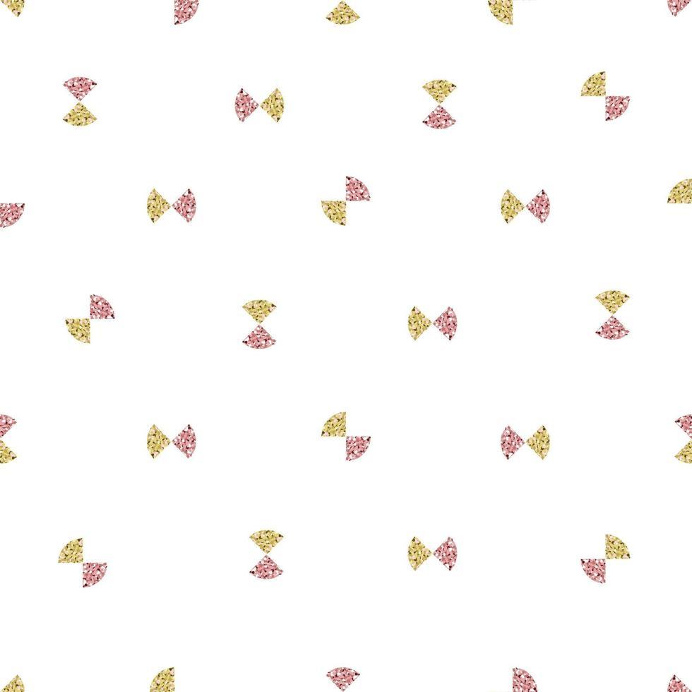 Fondo transparente del día de San Valentín con cinta de brillo rosa y dorado vector