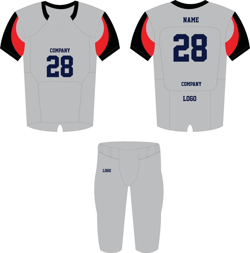 maquetas de uniformes de camiseta de fútbol americano vector