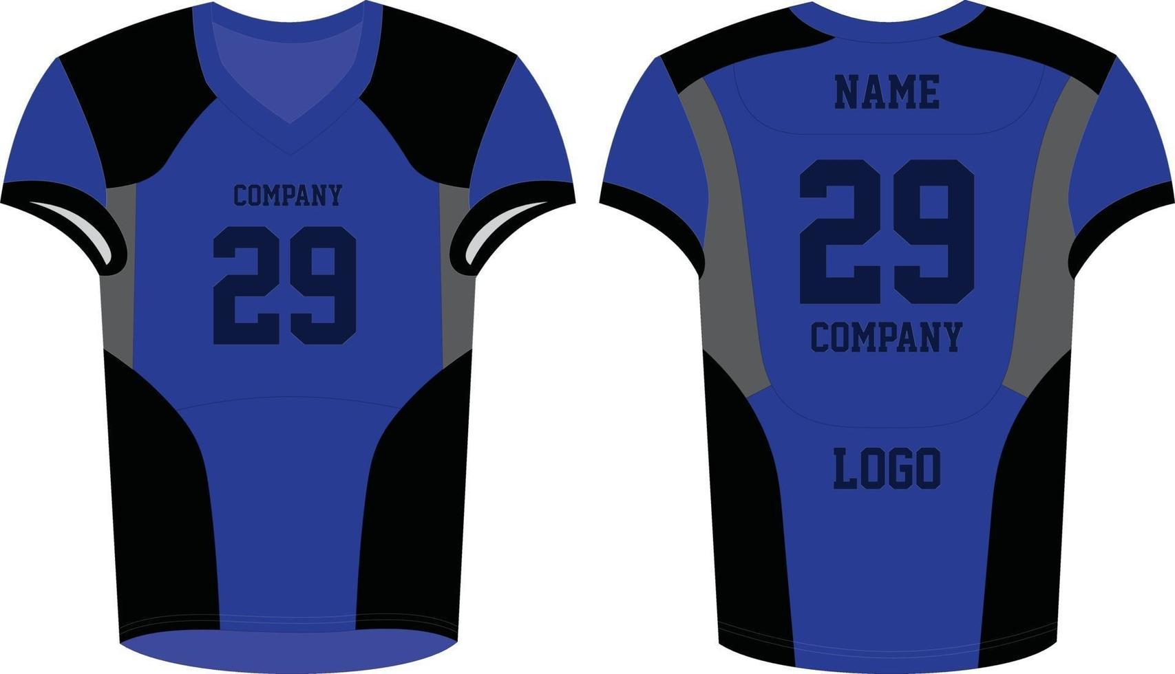 maquetas de uniformes de fútbol americano vector