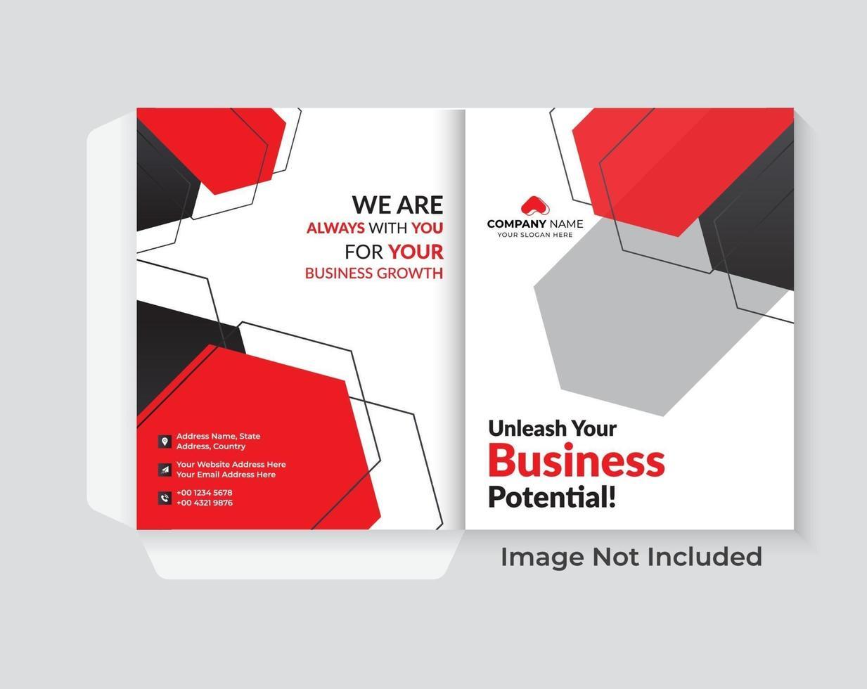 diseño de portada para conjunto de presentación de carpeta vector