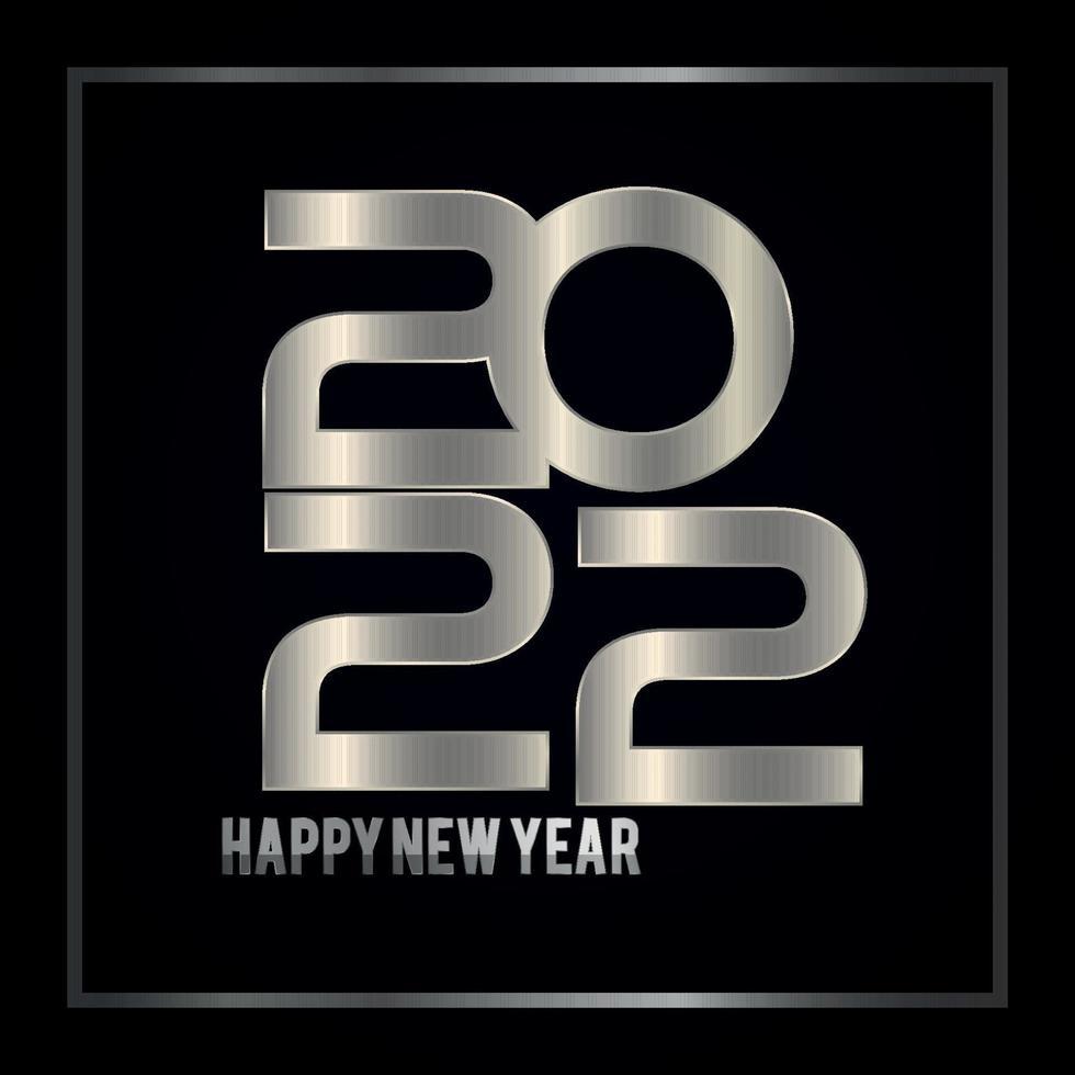 feliz año nuevo 2022 diseño vector
