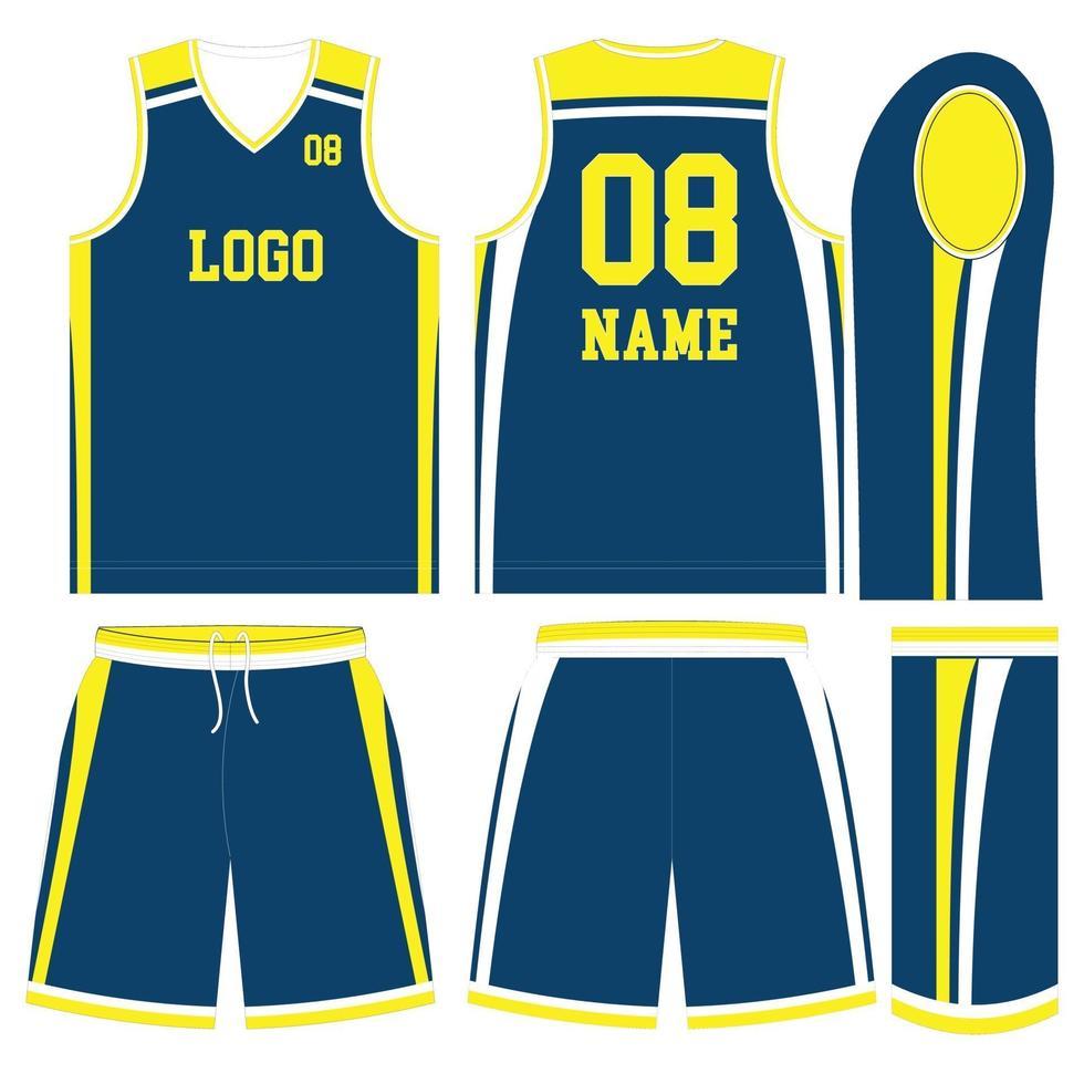 Jersey y pantalones cortos de uniformes de fútbol americano de diseño personalizado vector