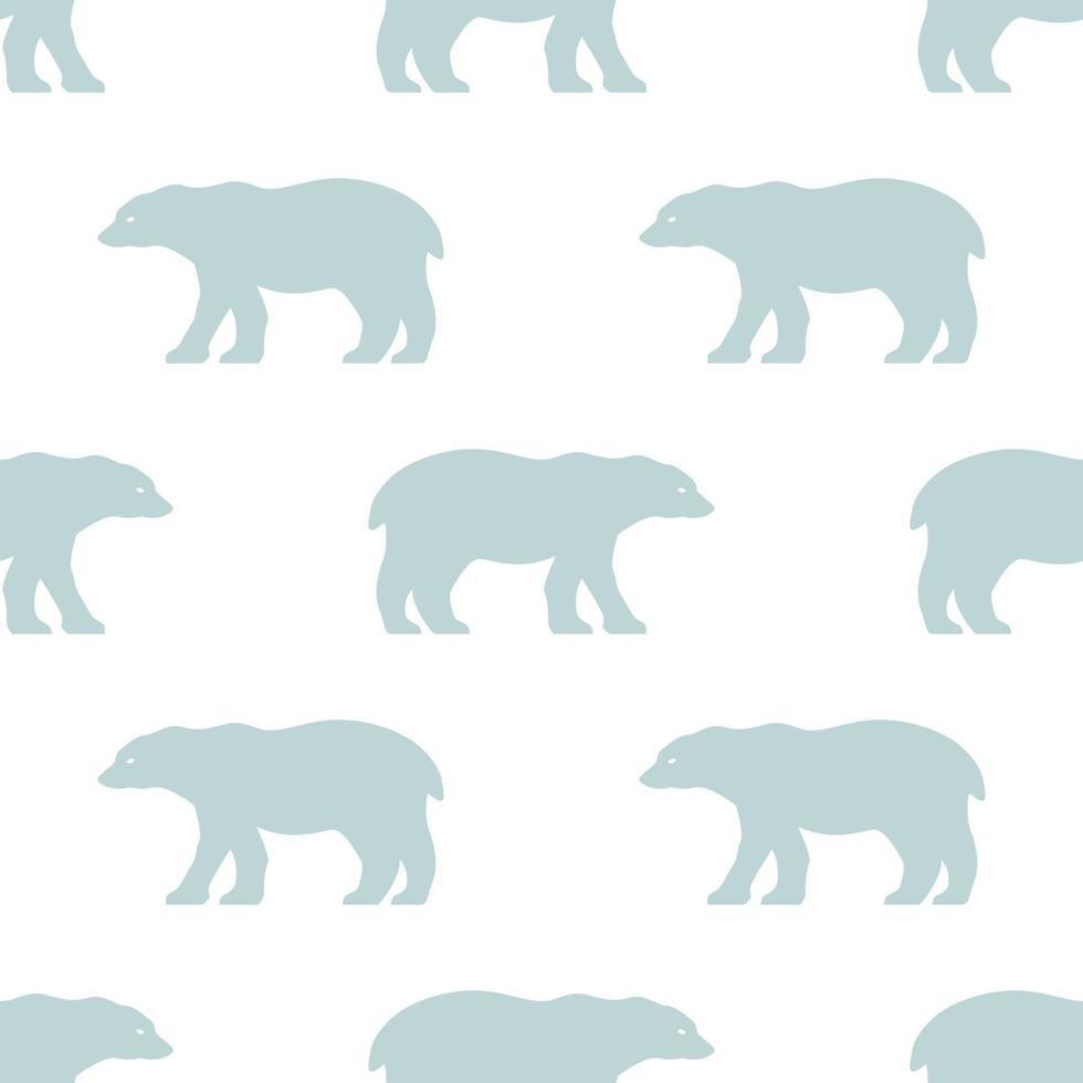 patrón transparente de oso polar. papel tapiz repetitivo de estilo escandinavo. vector