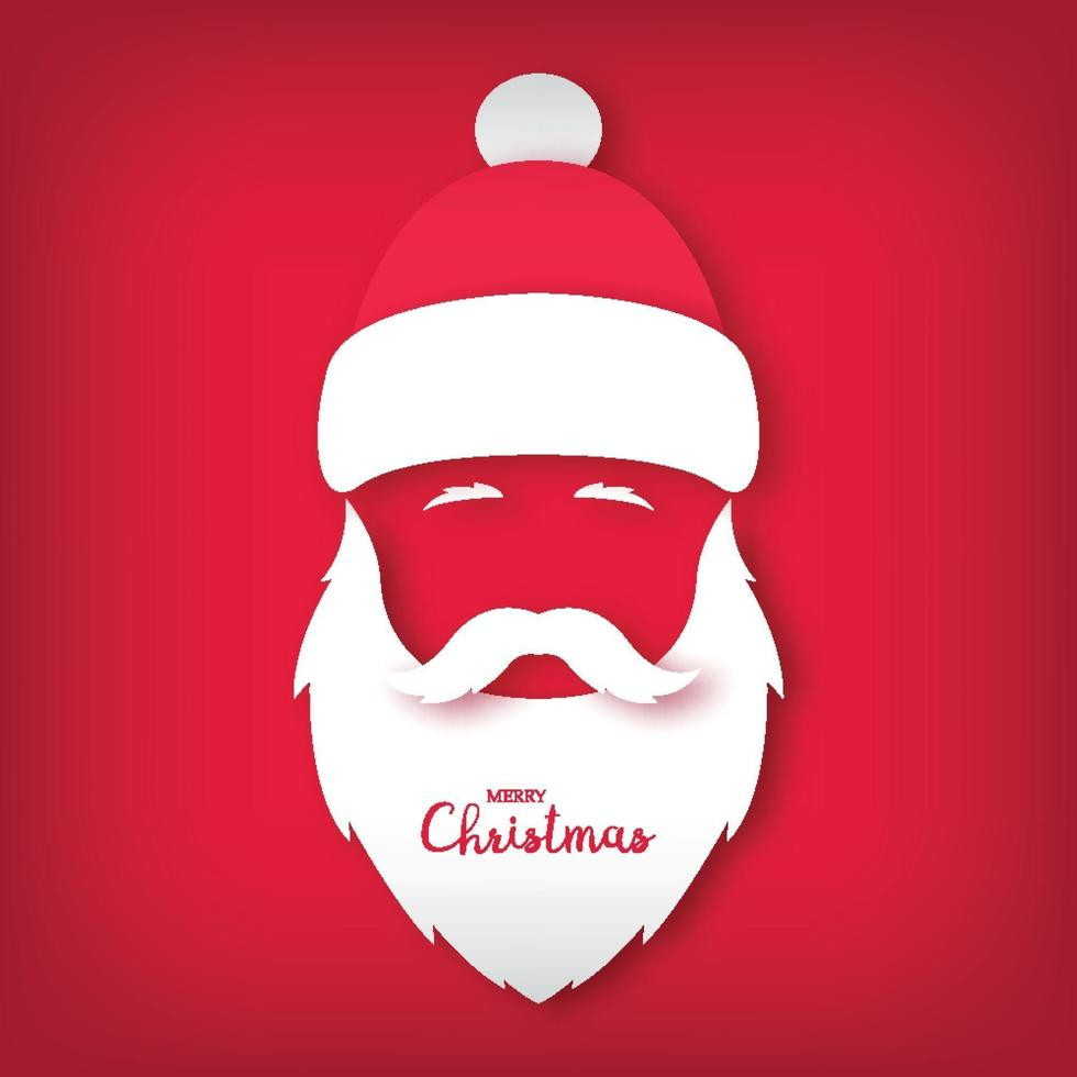 avatar de santa claus. estilo de arte de papel. ilustración de navidad. vector