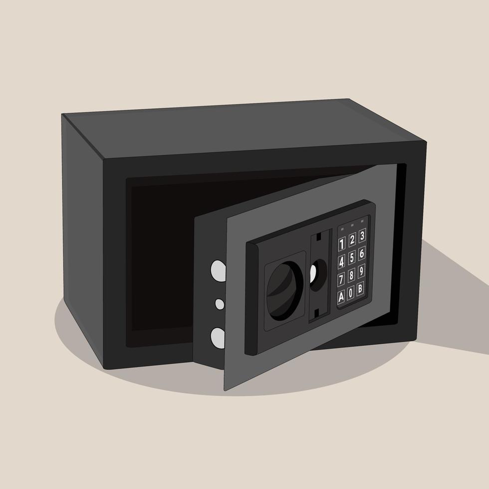 Caja de seguridad vectorial, perfecta para proyectos de diseño. vector