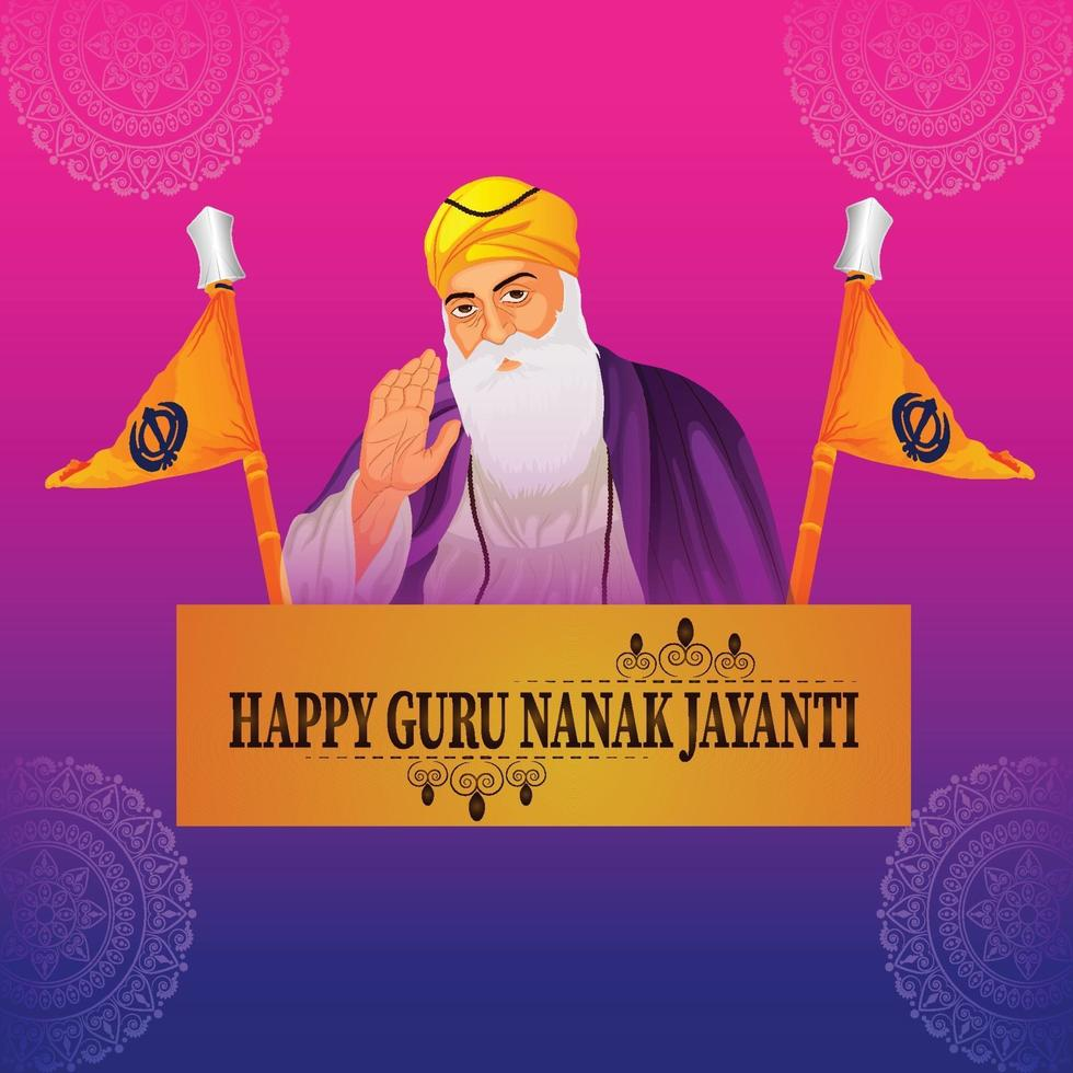 fondo feliz celebración gurpurab vector