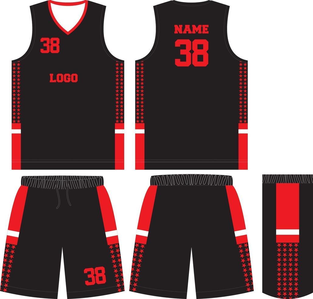 camiseta deportiva de diseño de uniforme de baloncesto vector