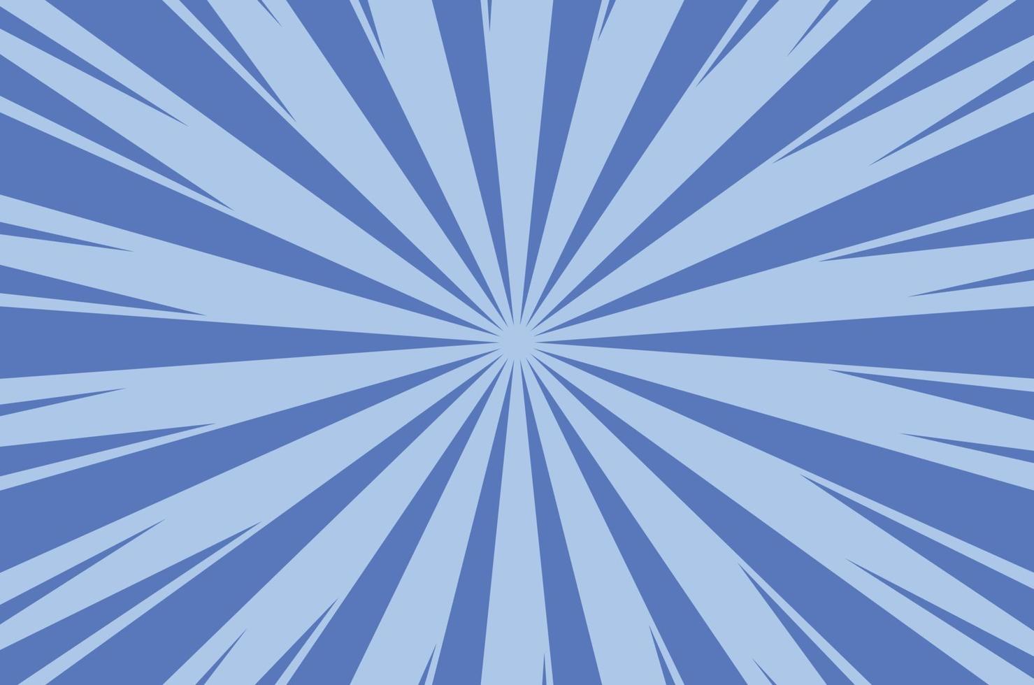 Fondo de luz solar de dibujos animados cómico abstracto azul vector