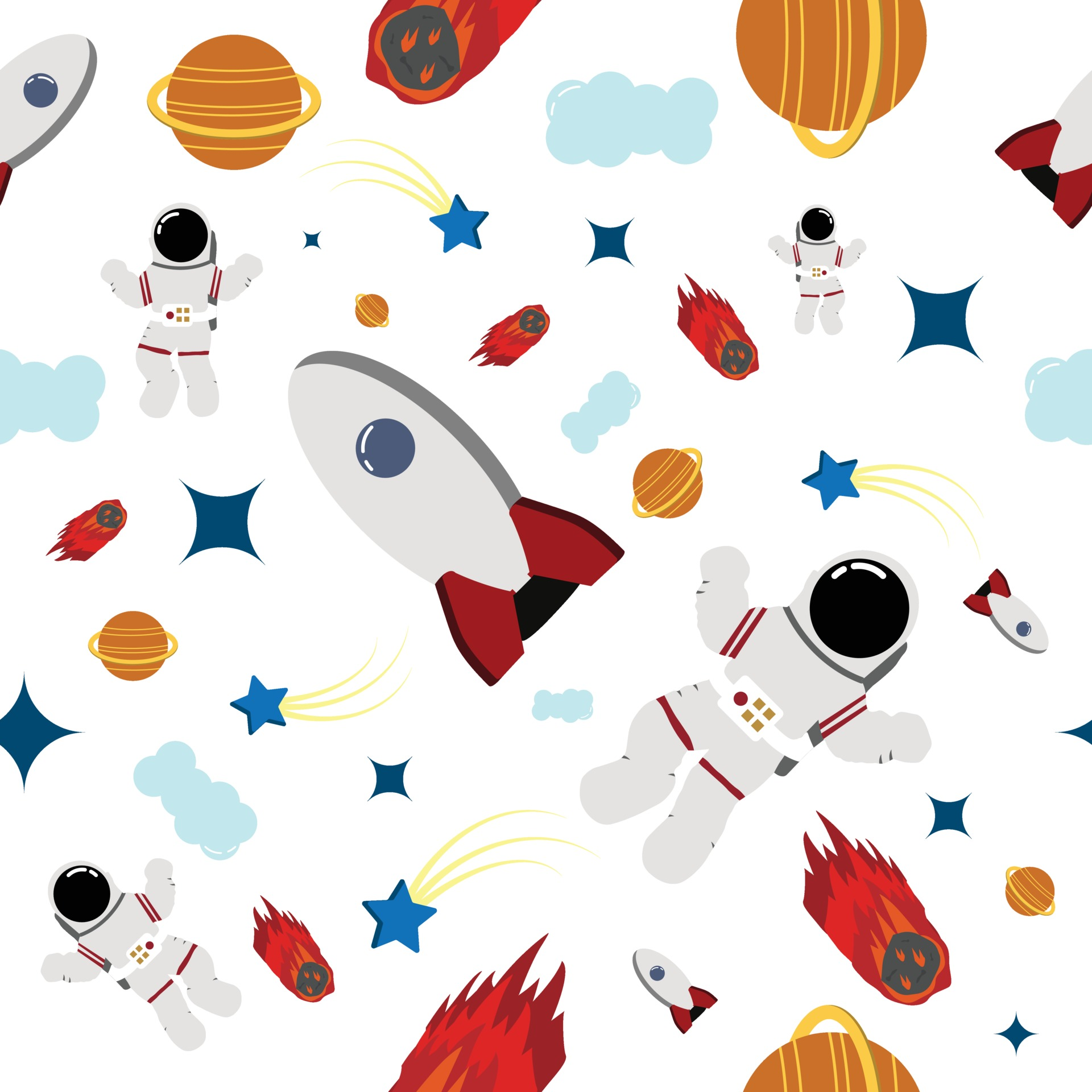 Space Seamless Pattern Perfect For Background Or Kid S Room Wallpaper 2048956 Vector Art At Vecteezy
