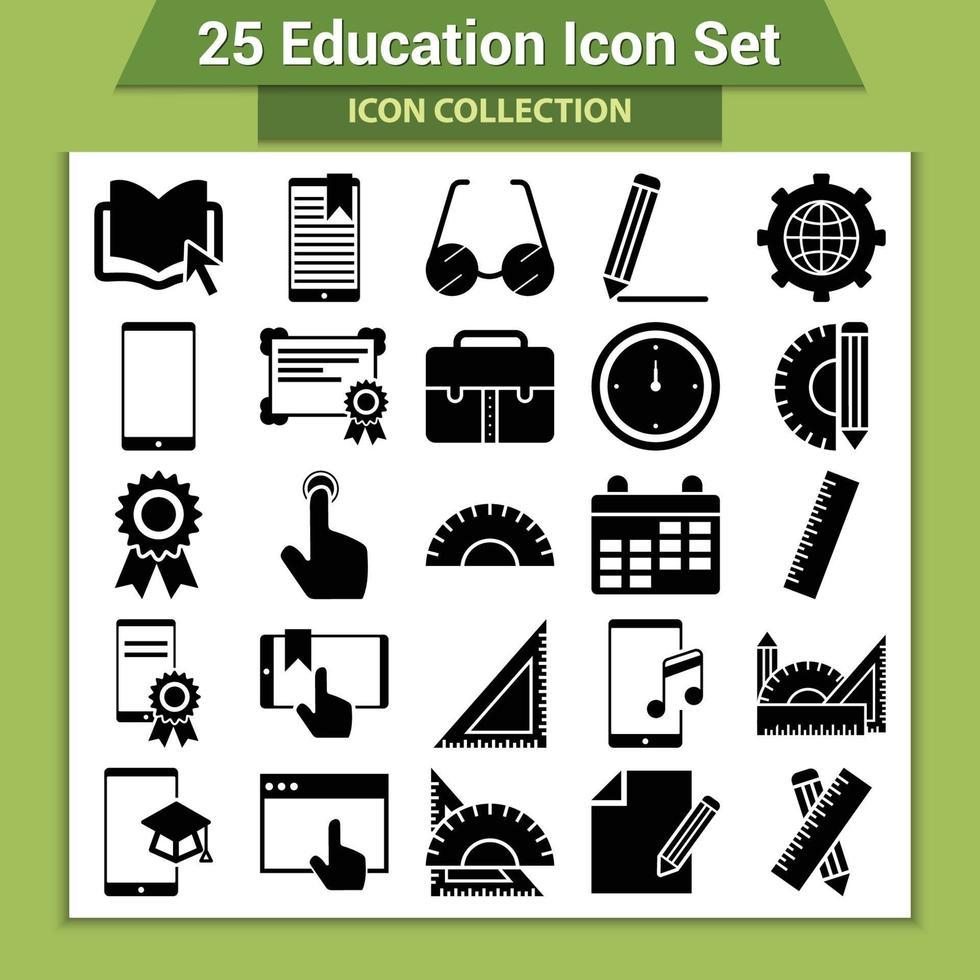 25 conjunto de iconos de educación vector