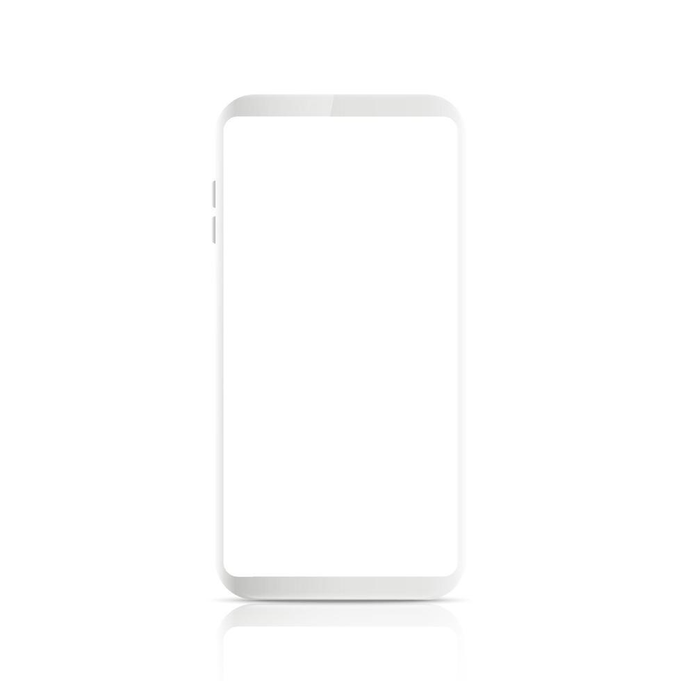 Nuevo estilo moderno de teléfono inteligente móvil realista. vector smartphone aislado sobre fondo blanco.