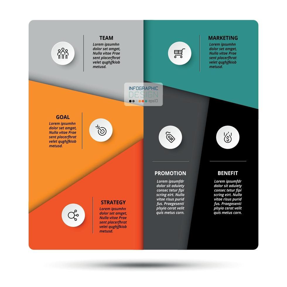trabajo de segmentación y explicación de funciones. Analizar diferentes procesos comerciales. vector