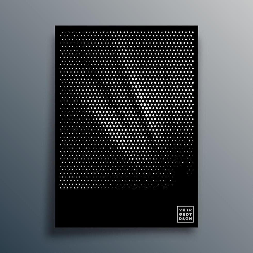 Halftone pattern design for flyer, poster, brochure cover, background, wallpaper, typography, or other printing products. Vector illustration