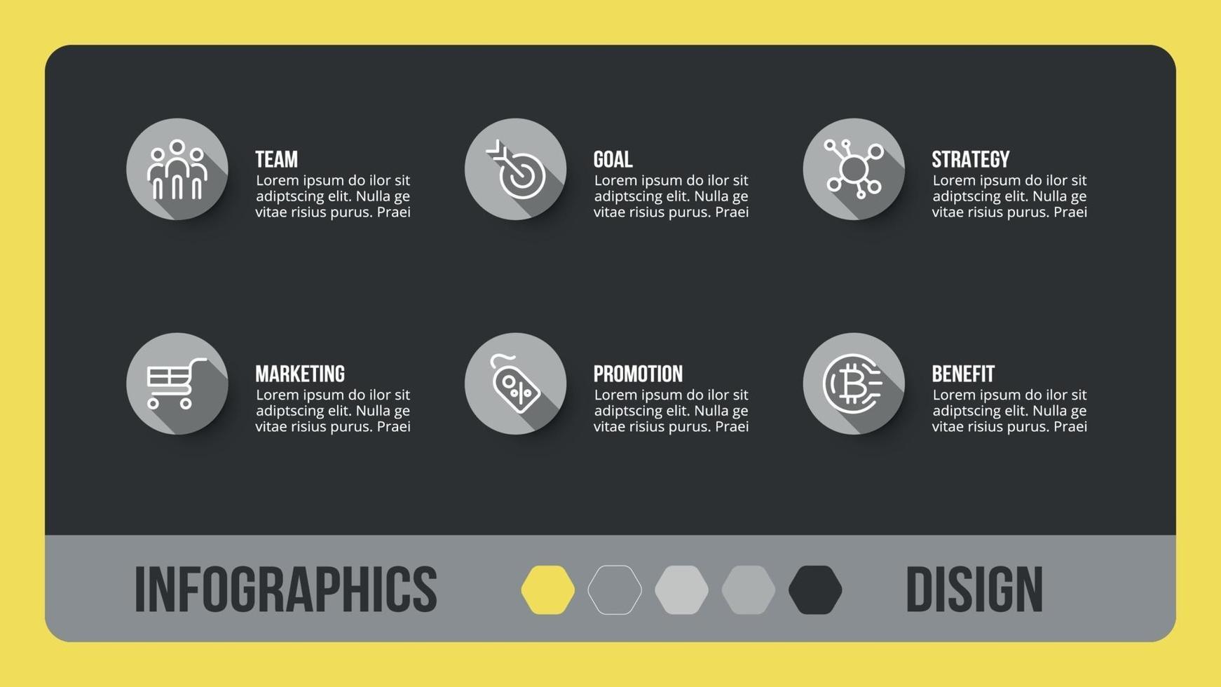 diseño en caja cuadrada. se puede utilizar para una presentación general de negocios o educativa. vector