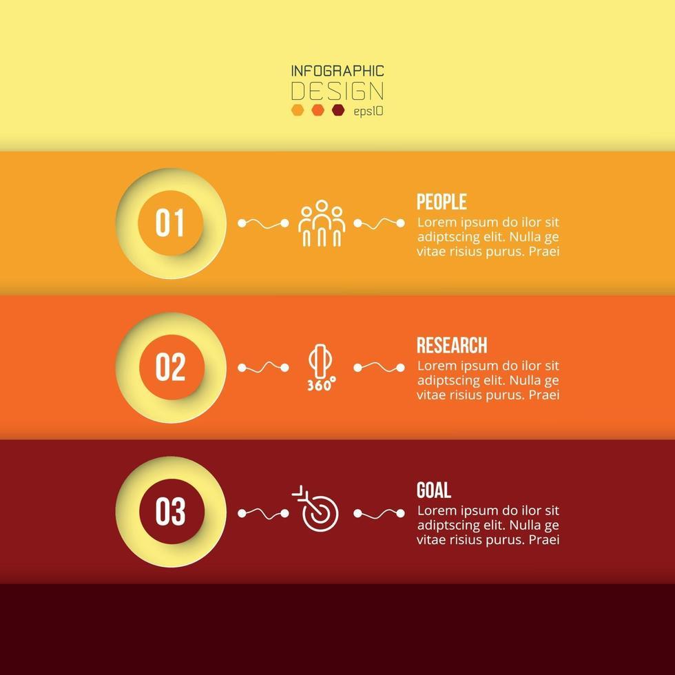 El nuevo diseño de presentación a través de estructura en capas, color, diseño de forma circular, se puede utilizar para planificar o establecer objetivos de trabajo en una empresa u organización. vector
