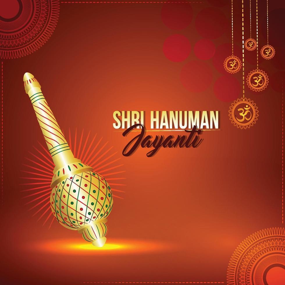 Hanuman jayanti greeting card vector