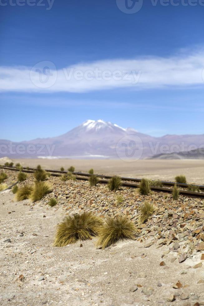 Volcán licancabur en bolivia foto