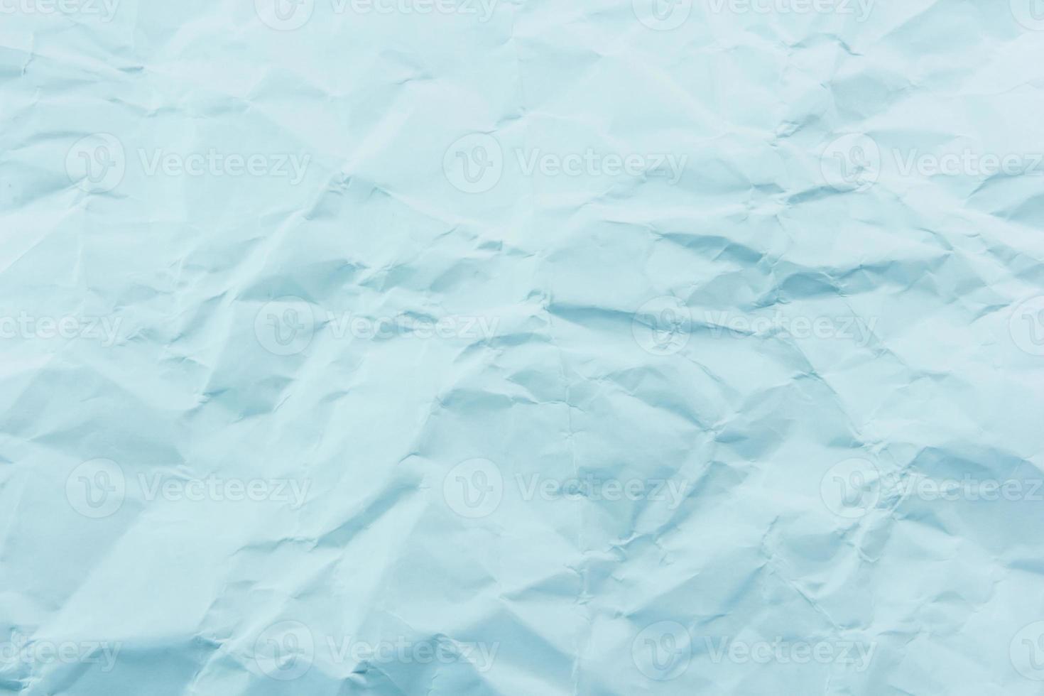 papel azul arrugado foto