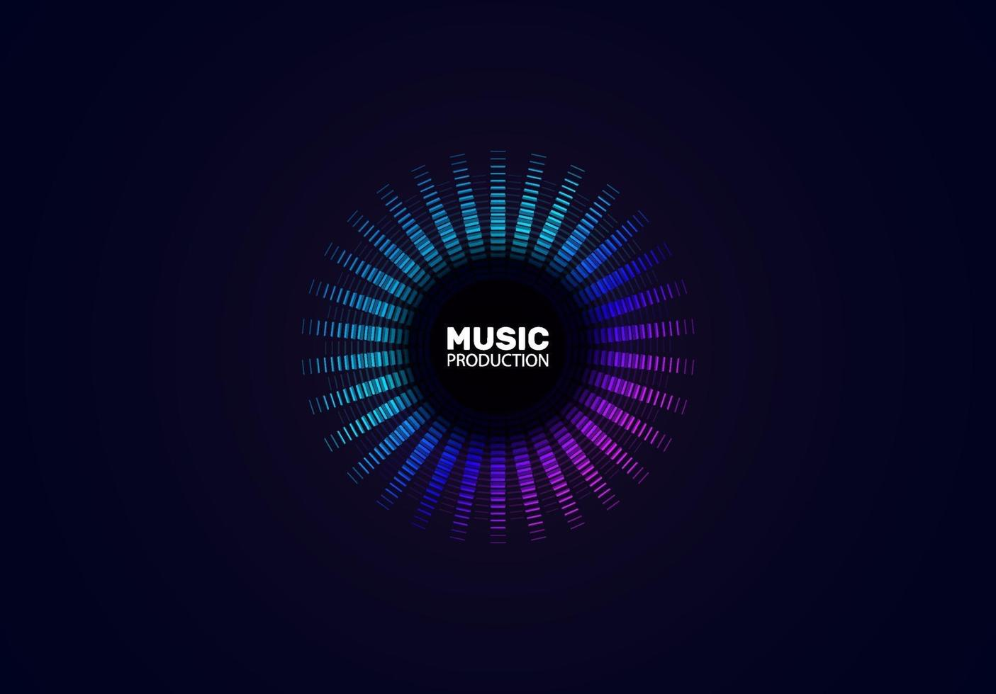 Music wave. Abstract background with a dynamic blending line. Illustration suitable for graphic design. vector