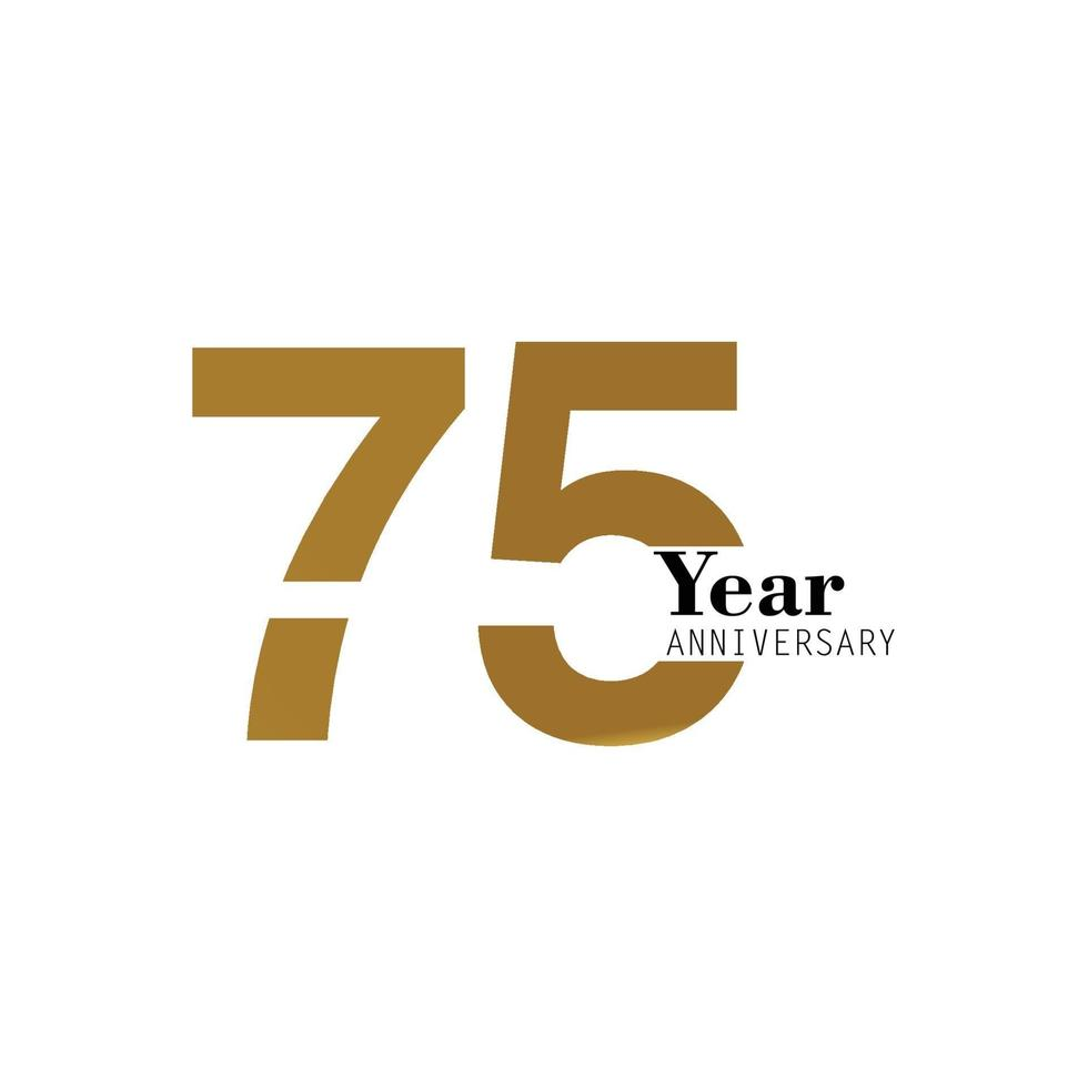 Year Anniversary Logo Vector Template Design Illustration gold and white