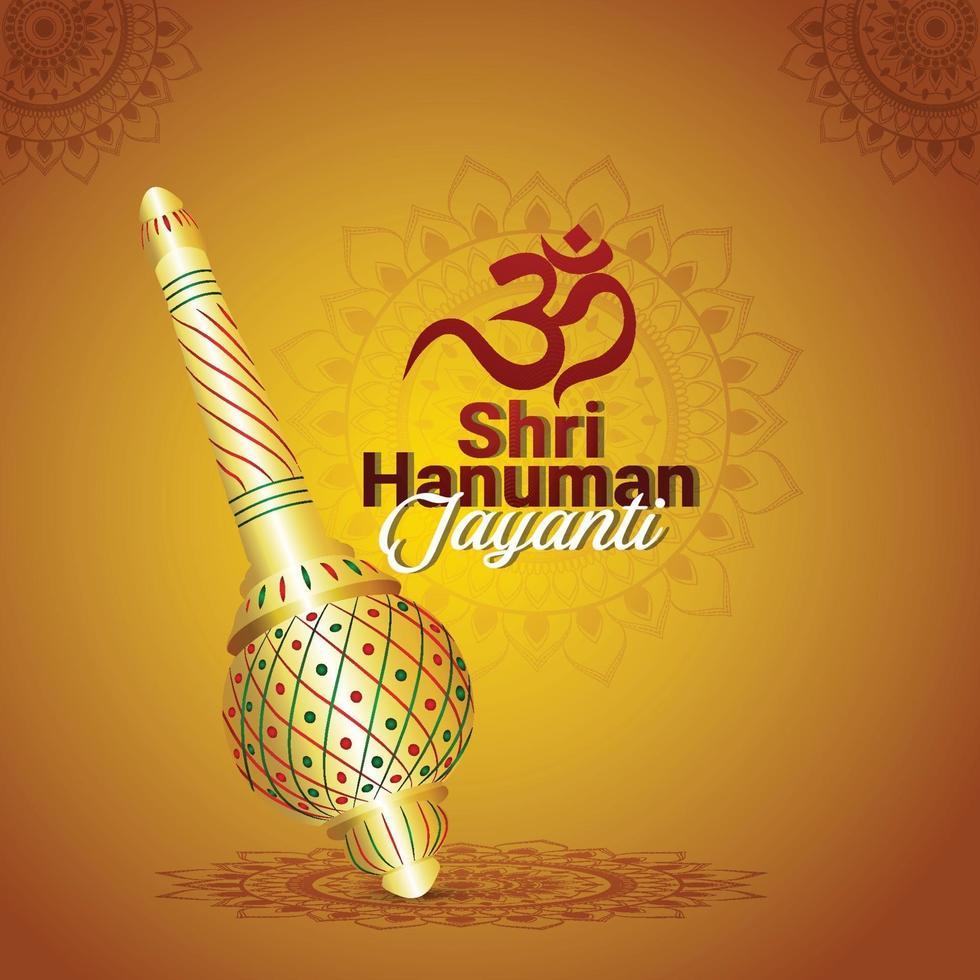 Hanuman jayanti celebration background vector
