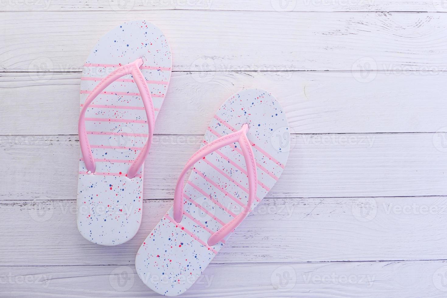 Pink flip flop sandals photo