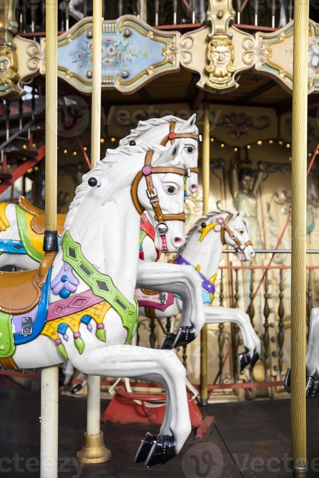 Detail from the vintage carousel photo