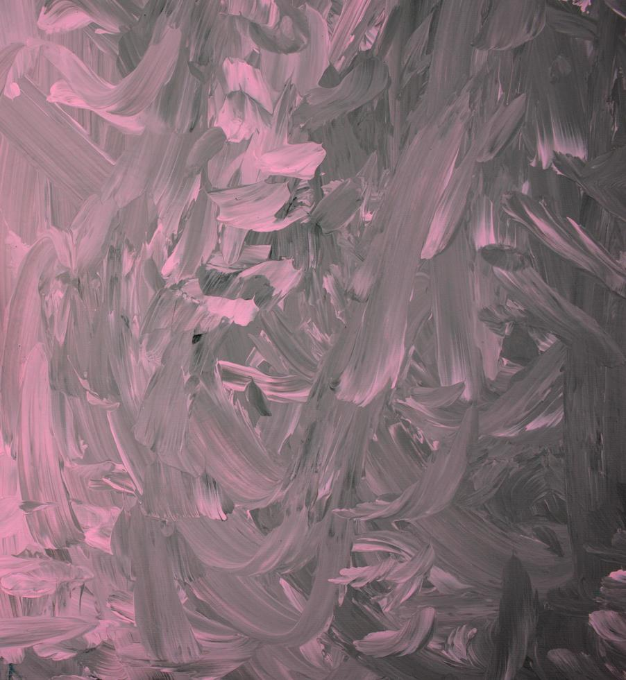 Handmade pink pastel on black acrylic color texture background photo