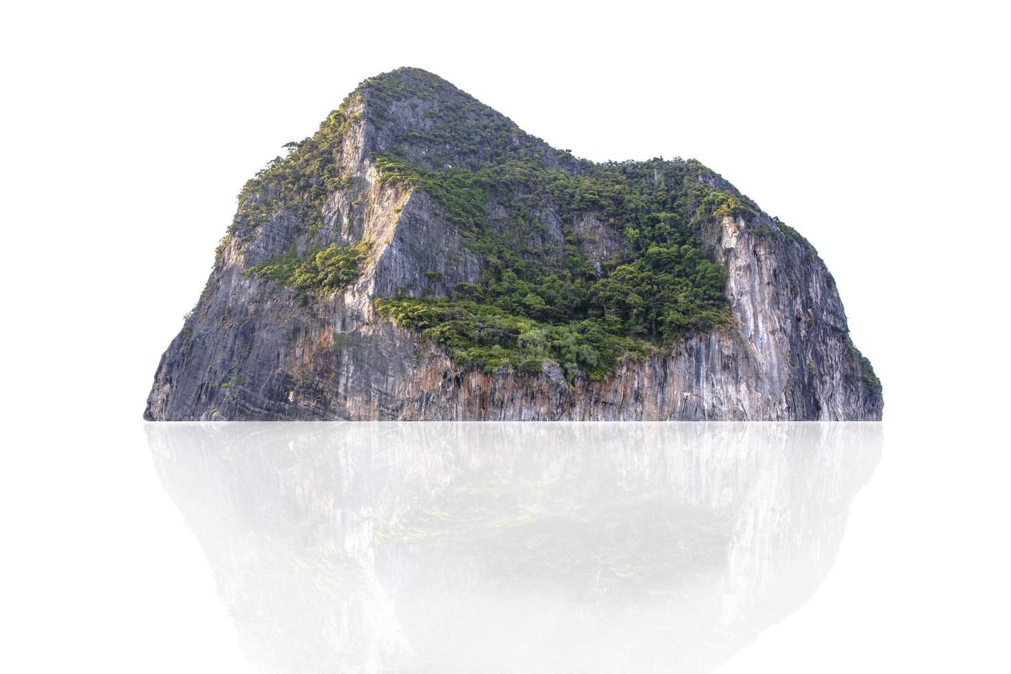 Tropical mountain isolated on white background photo