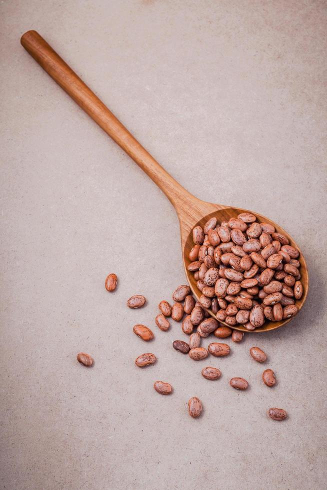 Raw pinto beans photo