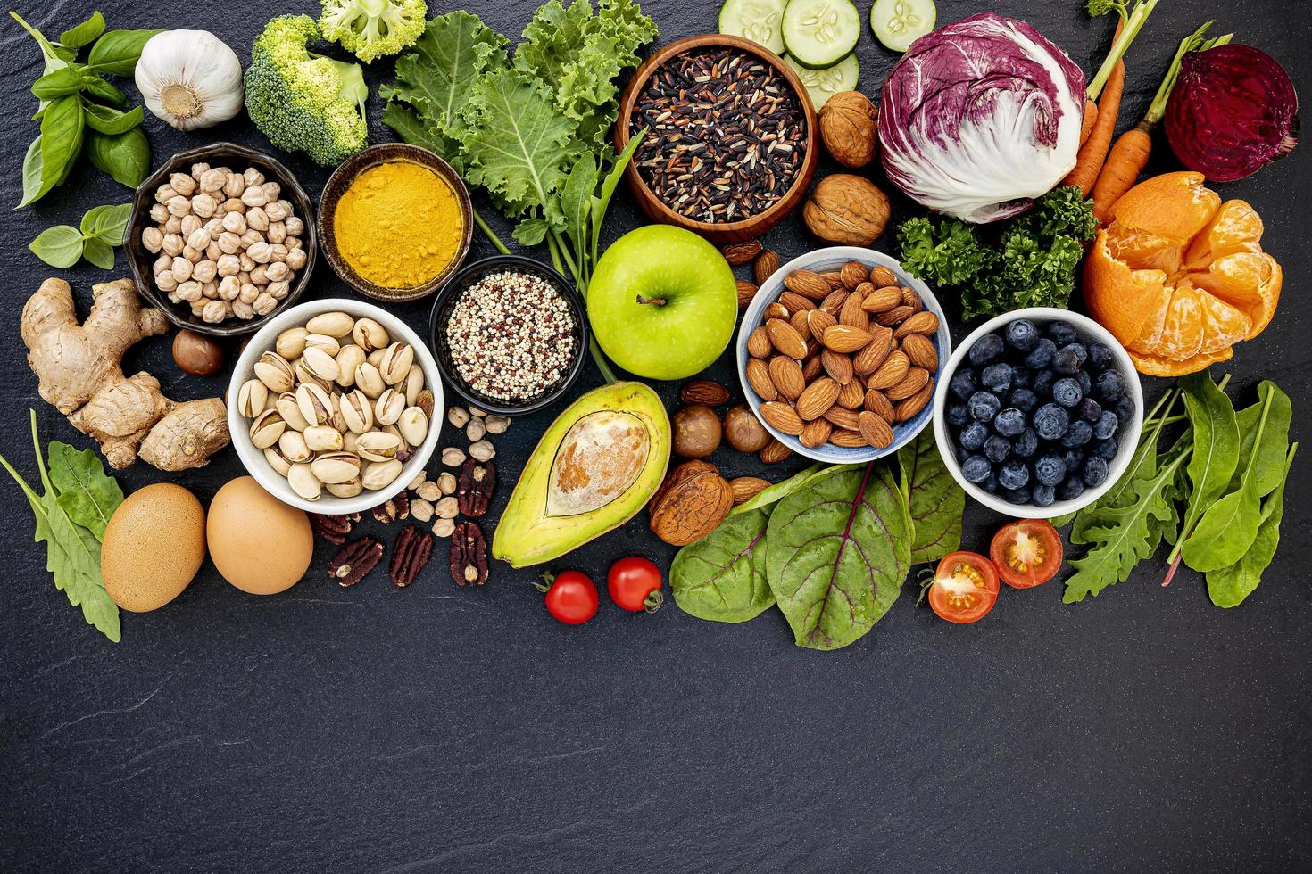 Healthy food selection photo