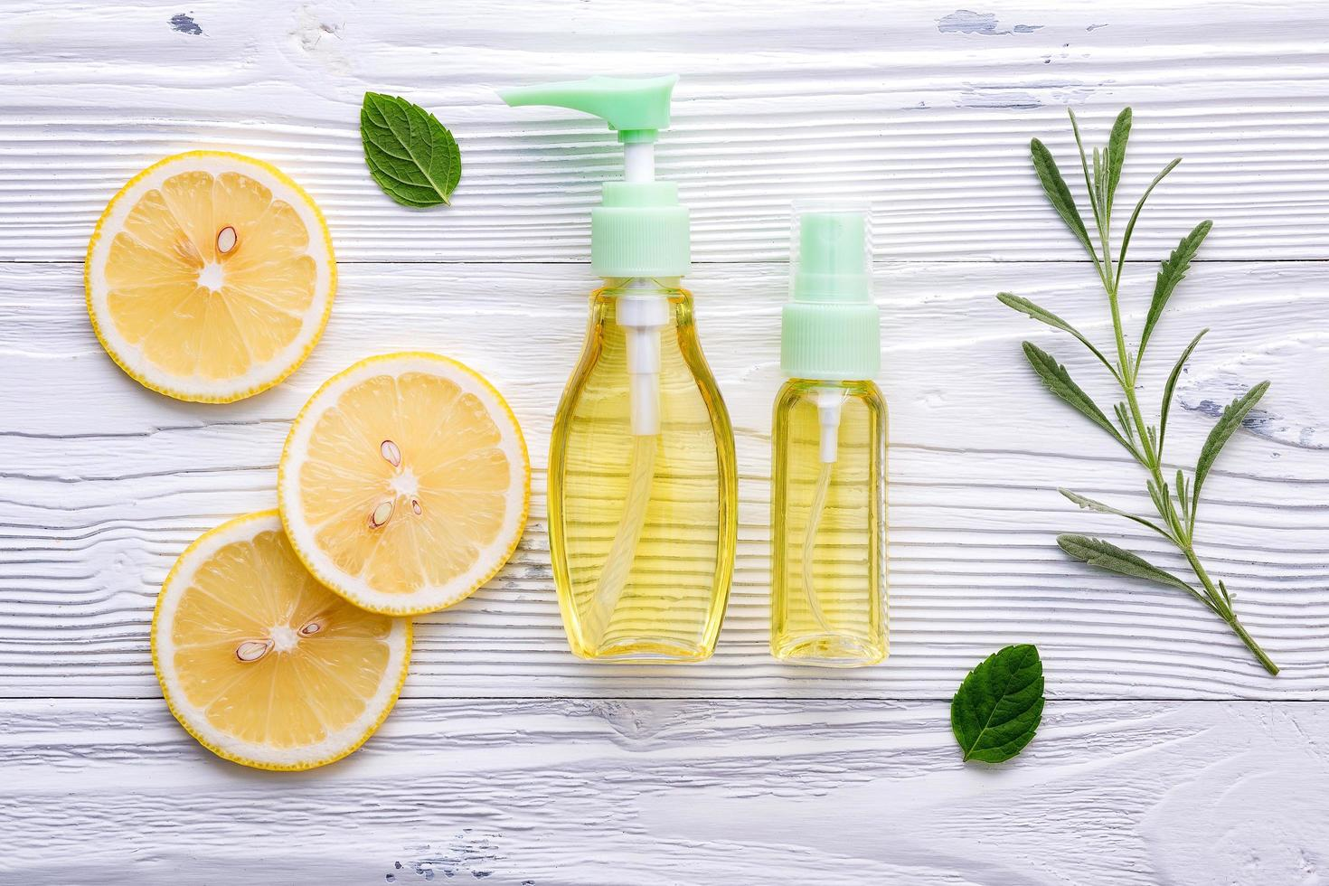 cuidado de la piel de limón foto