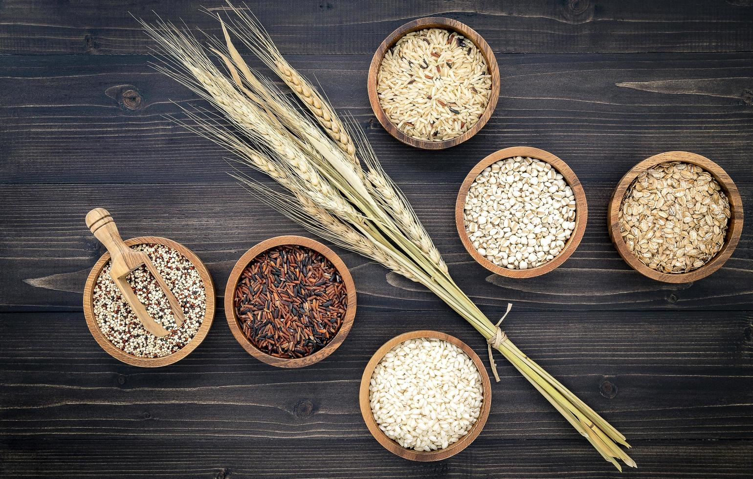 Top view of grains photo