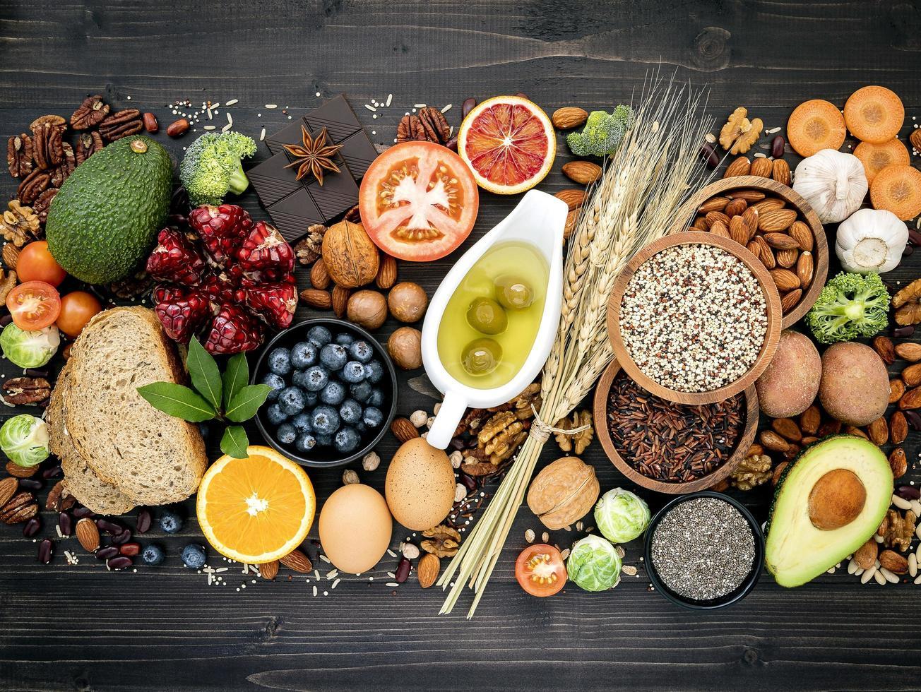 Healthy diet ingredients photo