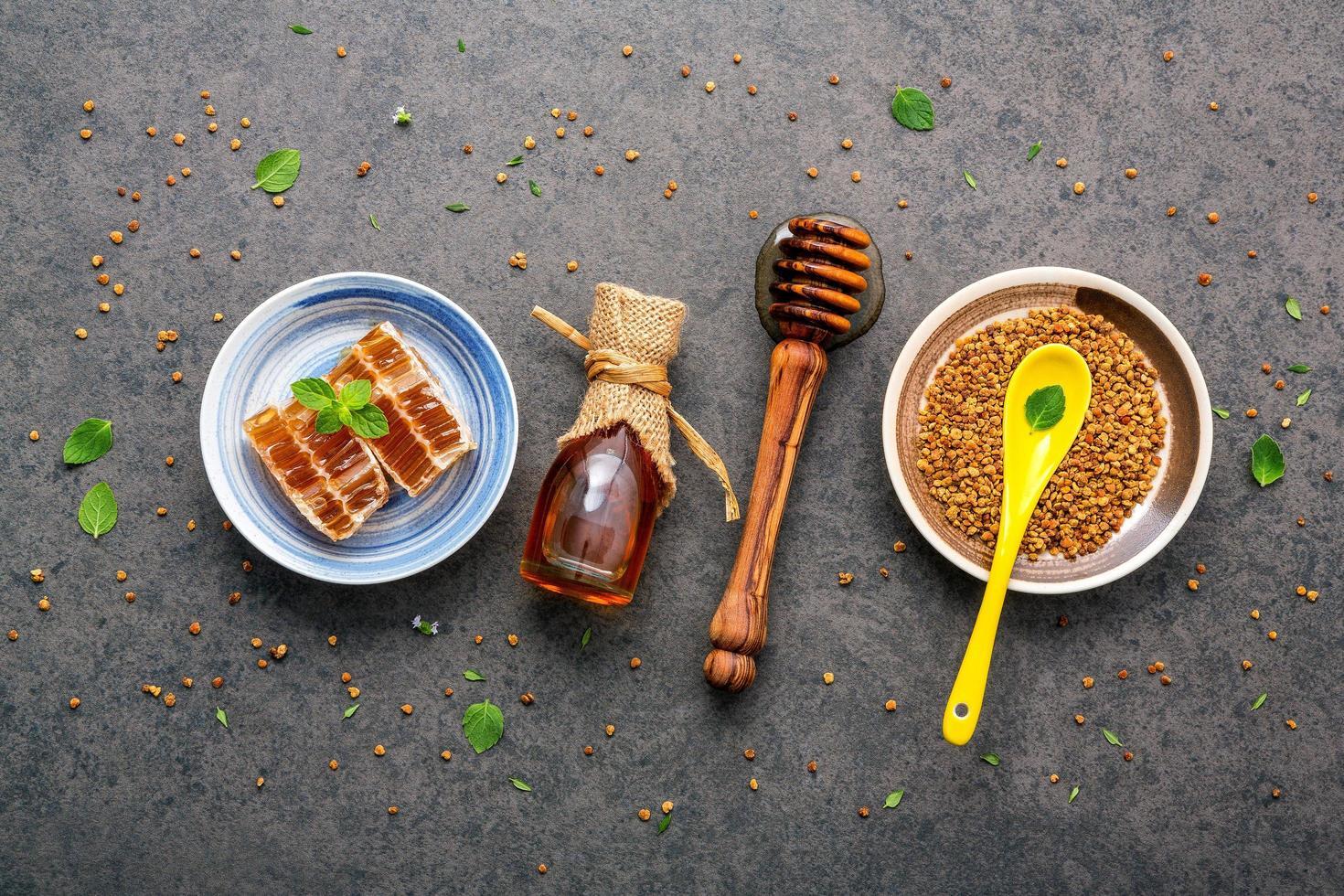 Raw organic honey photo