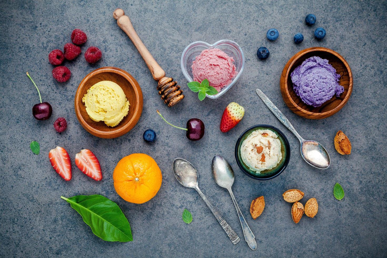 Ice cream concept photo