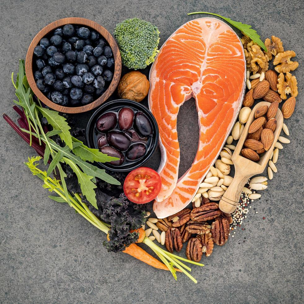 Healthy heart ingredients photo