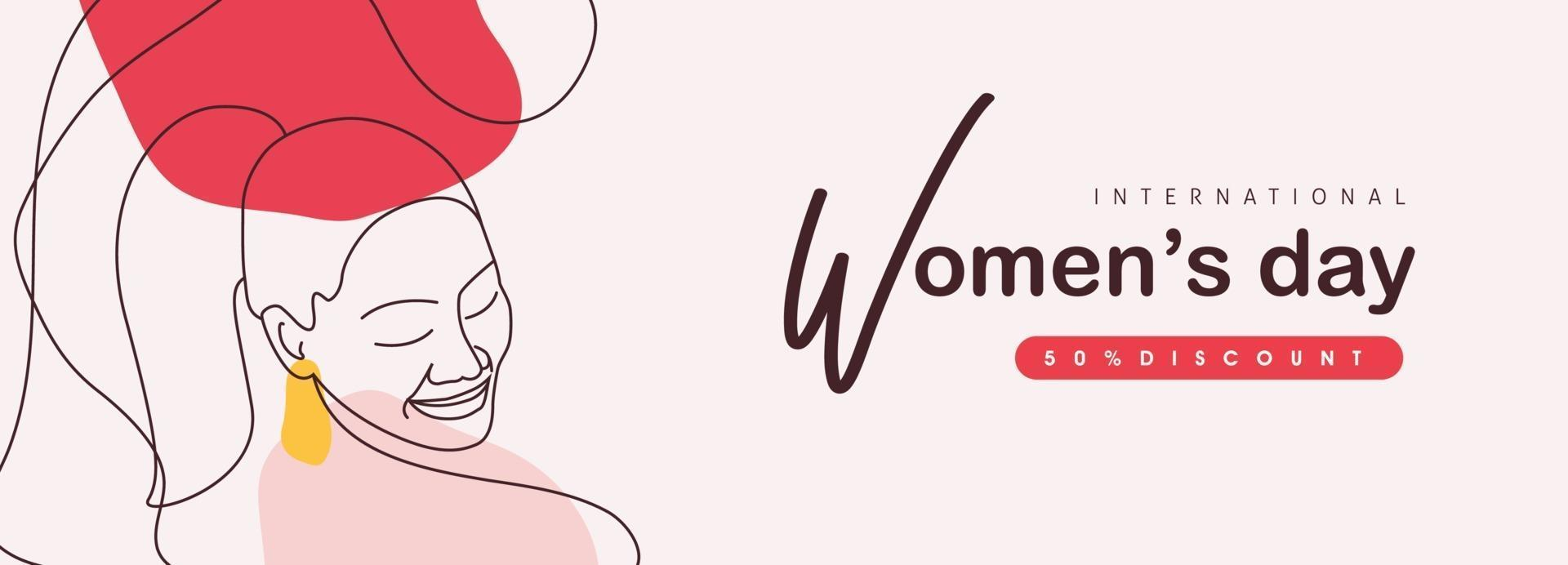 International women's Day greeting card template. vector