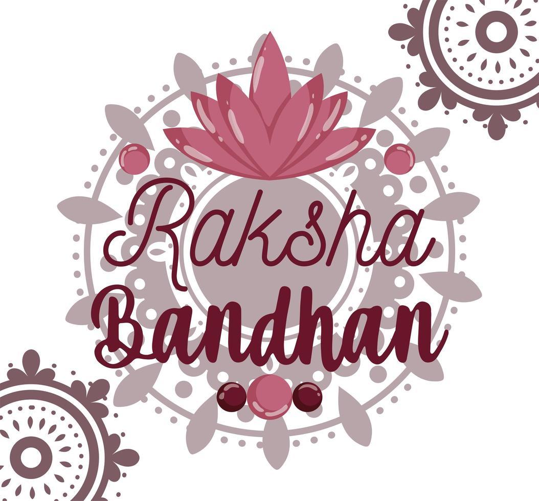 diseño de tarjeta de felicitación feliz raksha bandhan vector