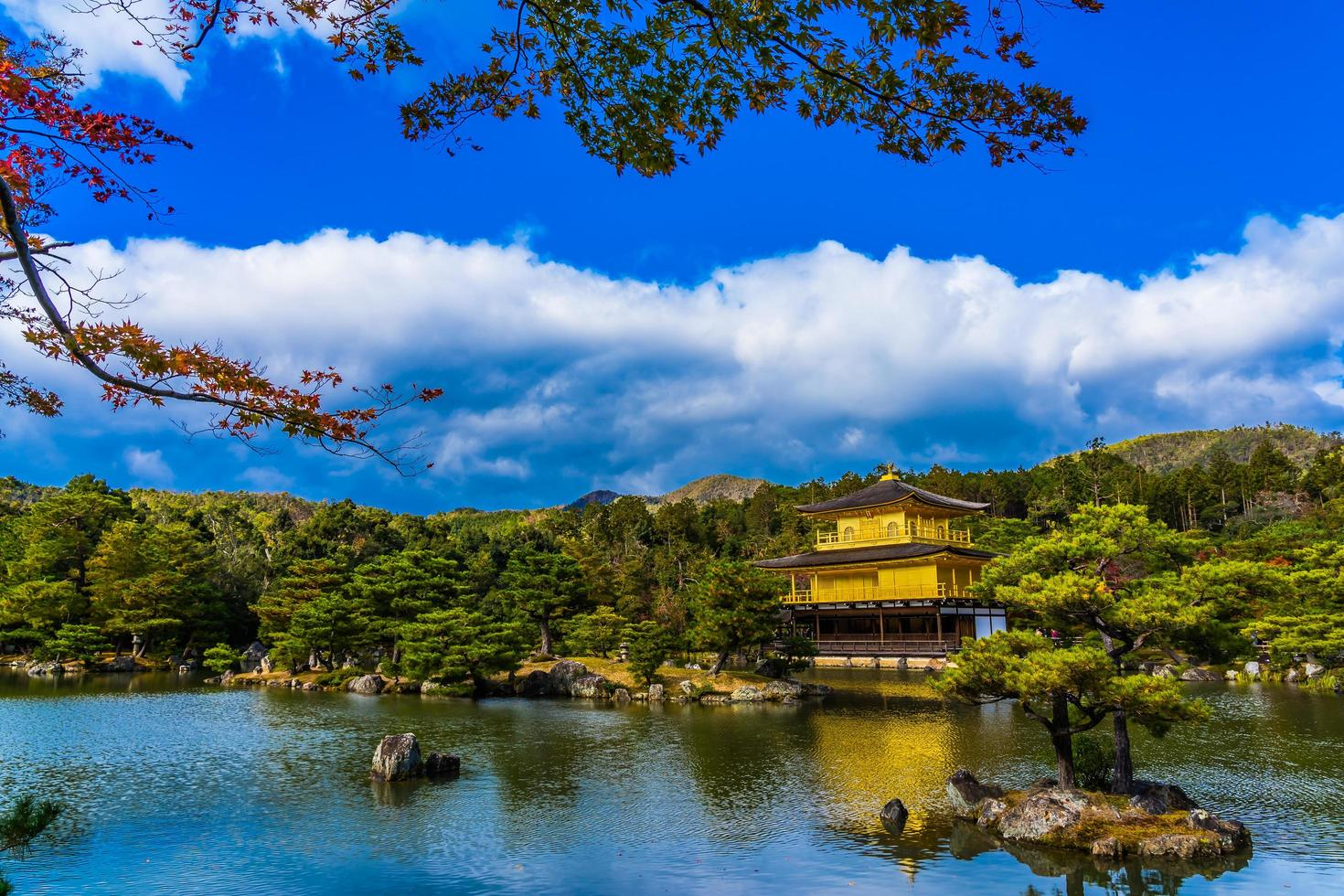 Kinkakuji temple or Golden Pavillion in Kyoto, Japan photo