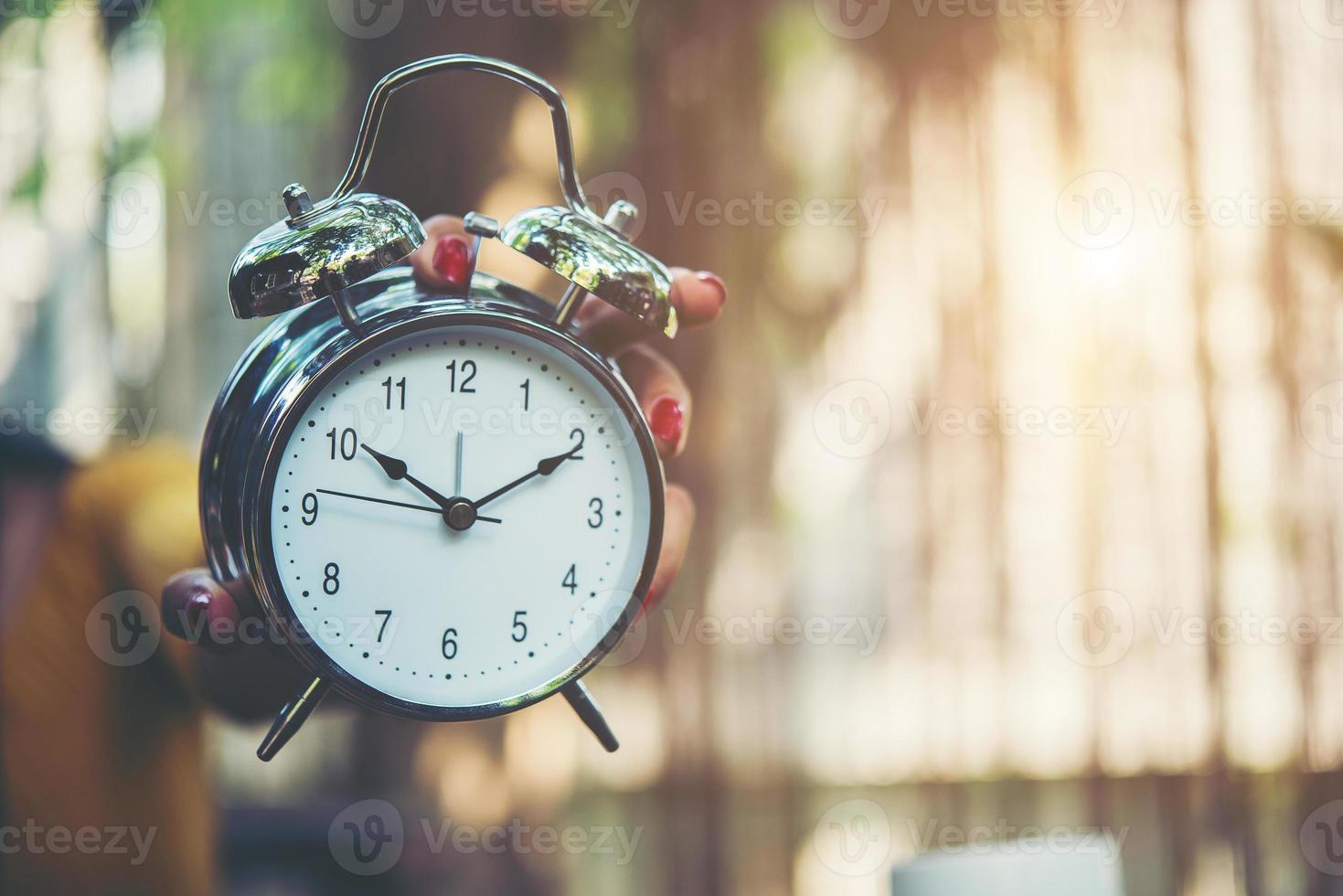 Alarm clock, time set at 10 am photo