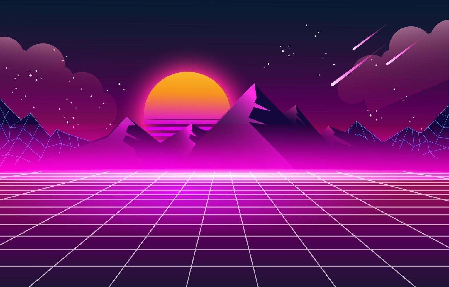 Retro Futuristic 80s Background vector