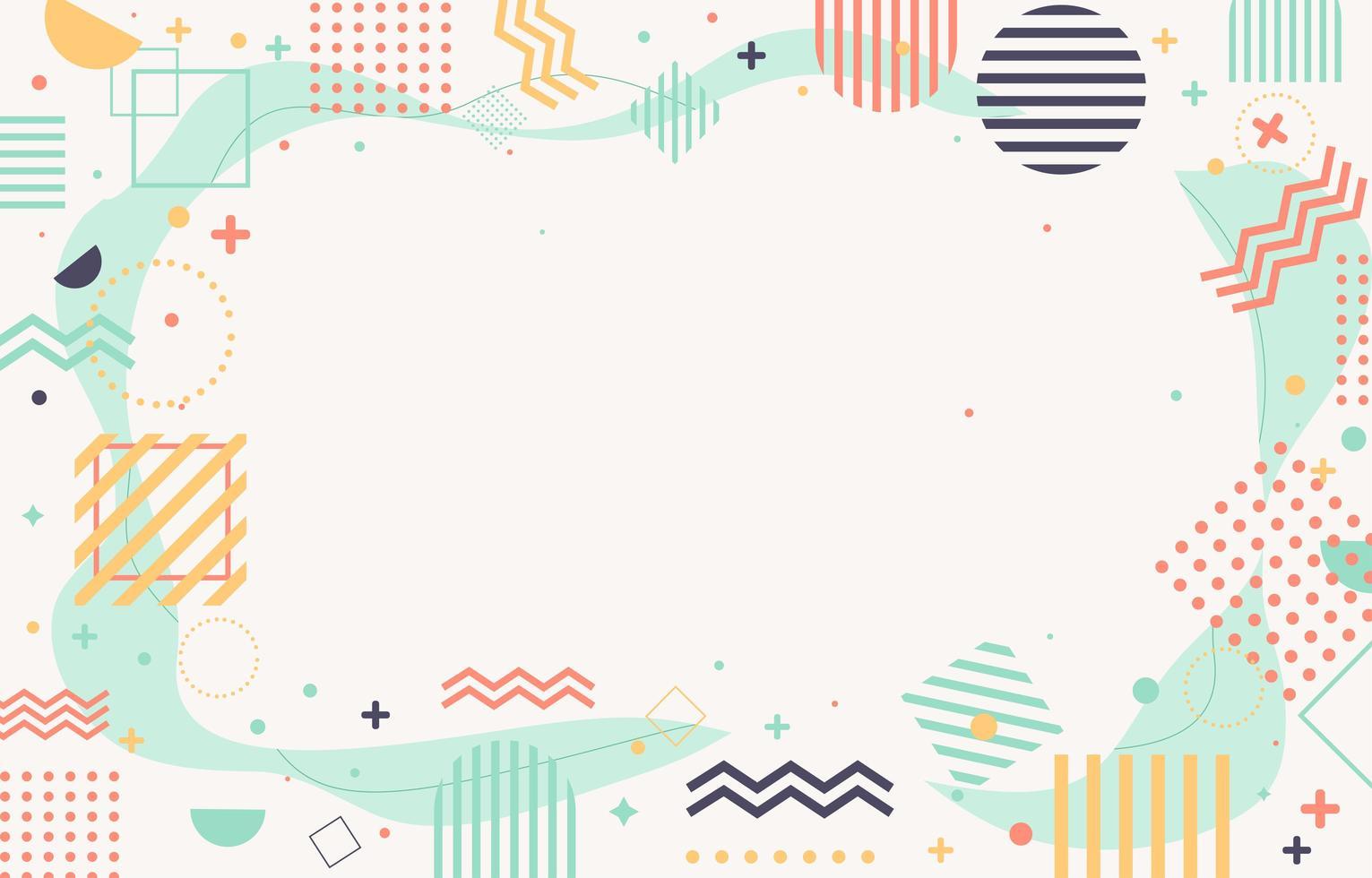 fondo de formas abstractas vector