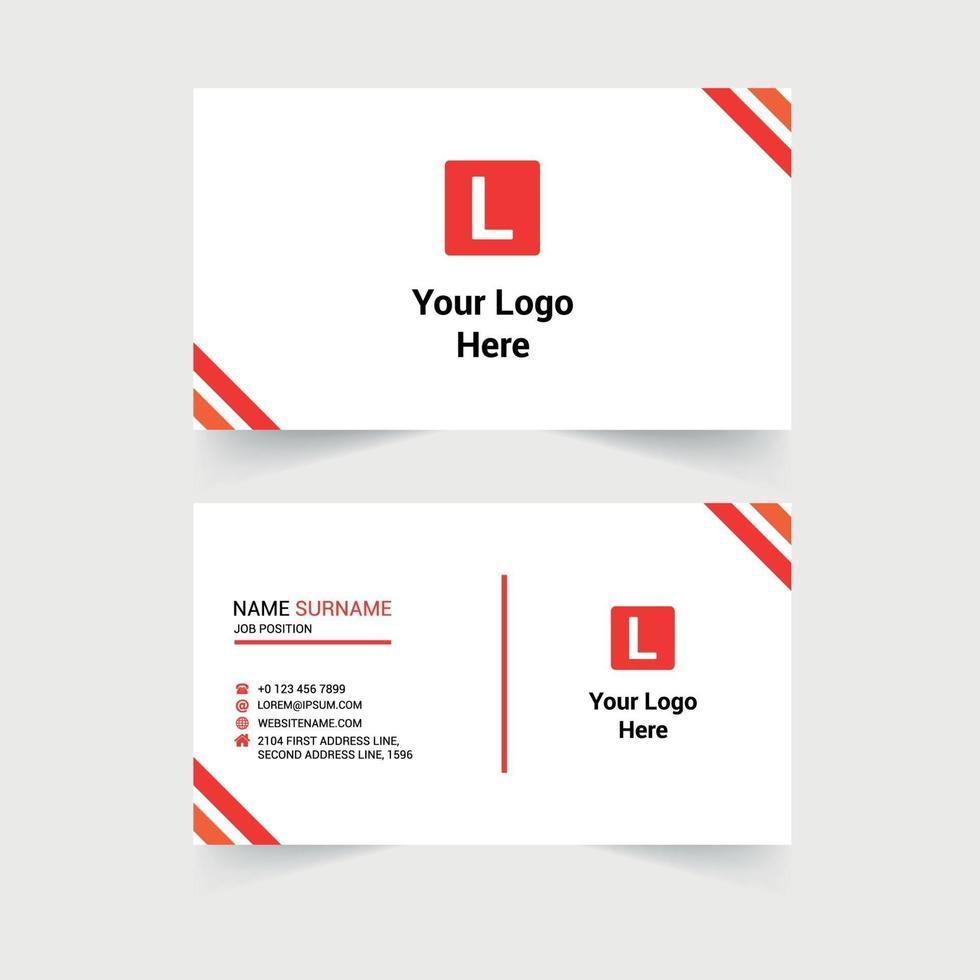 Corporate Modern Business Card Design vector