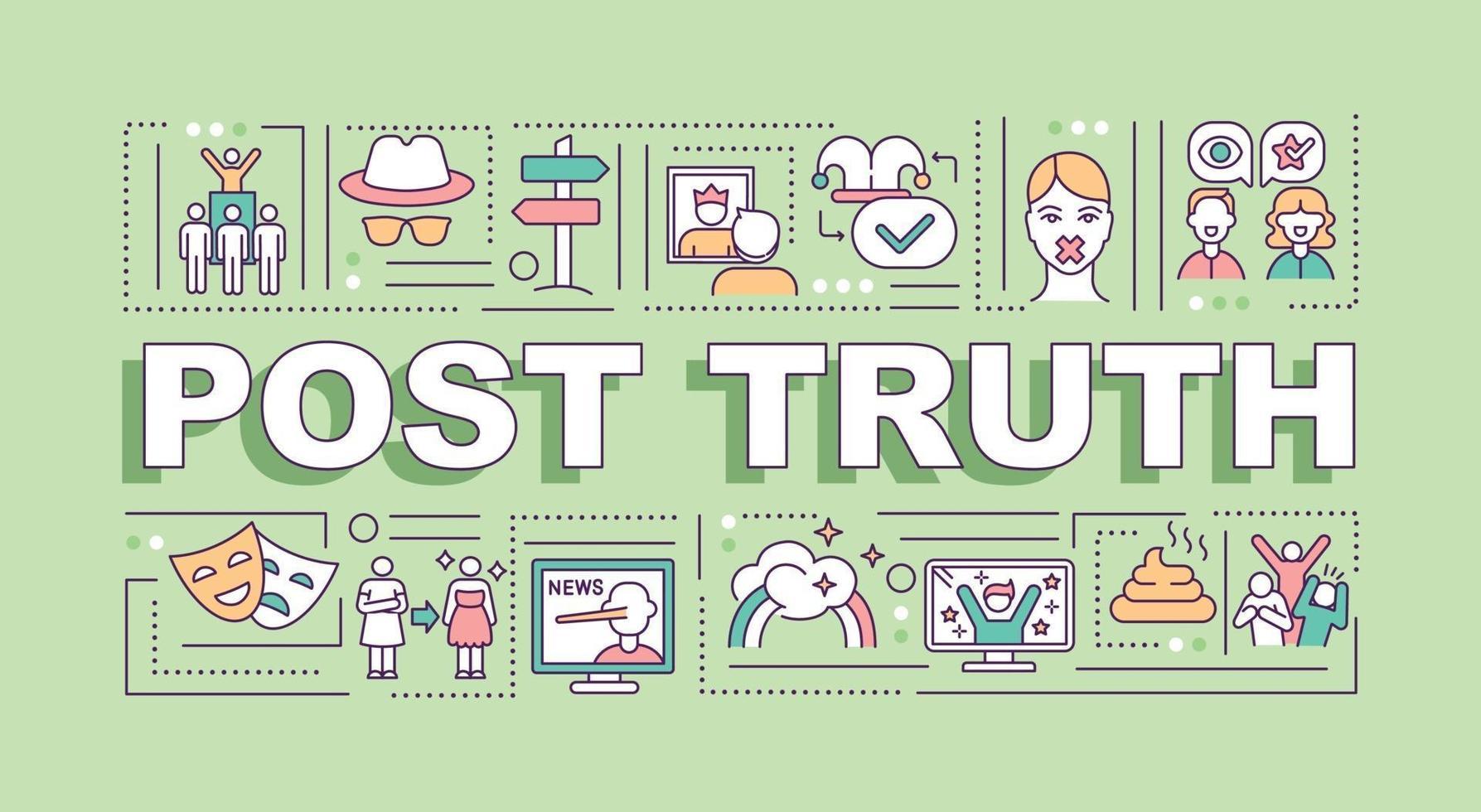 Post truth word concepts banner - Download Free Vectors, Clipart Graphics &  Vector Art