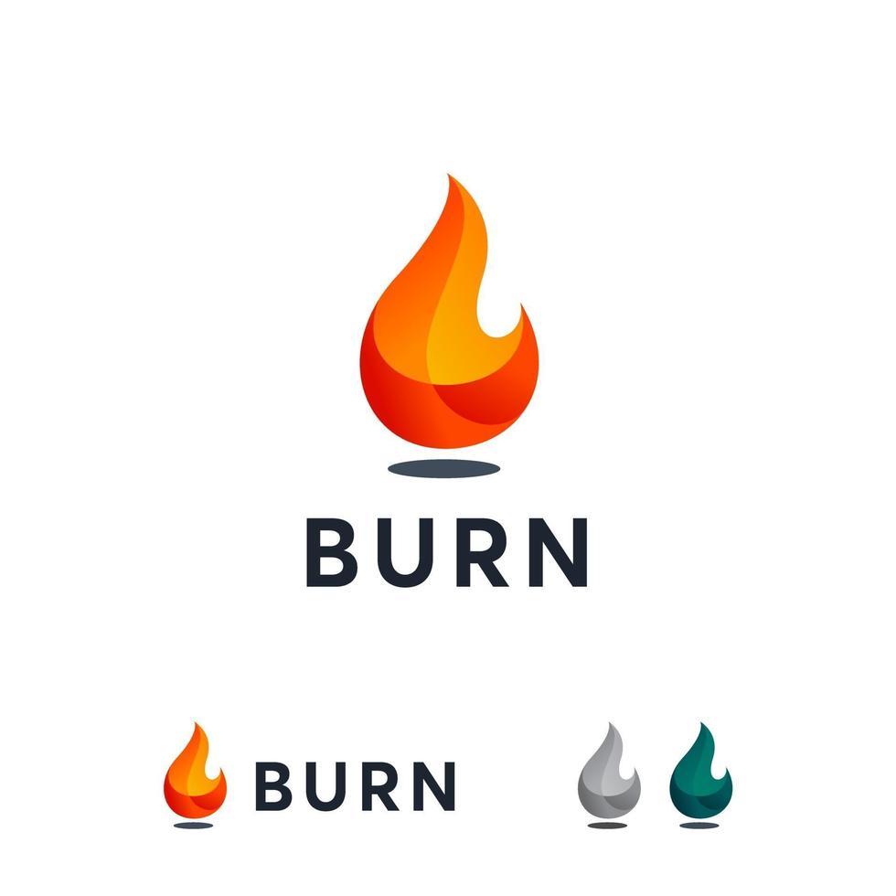 3d Burn logo designs concept vector, Fire Flame logo designs template vector